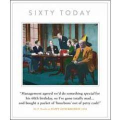 60 jaar grote verjaardagskaart - sixty today