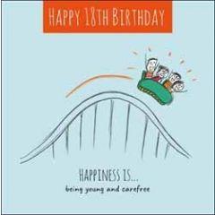 18 jaar verjaardagskaart - happy 18th birthday