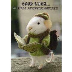 santoro tiny squee mousies afscheidskaart - good luck... my little adventure squeaker