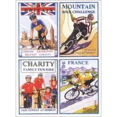 wenskaart clanna cards - wielrennen fietsen mountainbiken