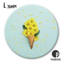koelkastmagneet pickmotion - ijsje van bloemen