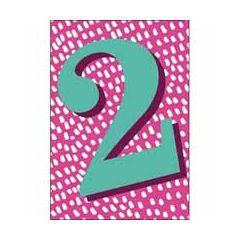 2 jaar - verjaardagskaart woodmansterne - roze blauw