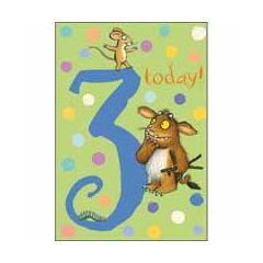 3 jaar - verjaardagskaart woodmansterne - gruffalo