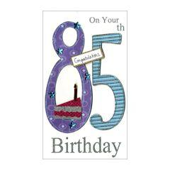 85 jaar - grote luxe verjaardagskaart - on your 85th birthday