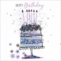 verjaardagskaart sparkle dust - happy birthday - taart