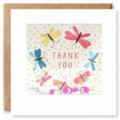 bedankkaart  shakies - thank you - vlinders