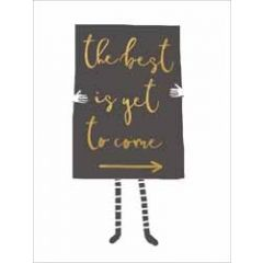 wenskaart  piano small notecards - the best is yet to come