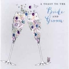 luxe trouwkaart - a toast to the bride and groom