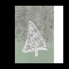 luxe kerstkaart met hanger - kerstboom