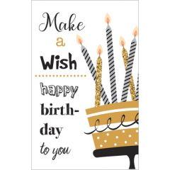 verjaardagskaart - make a wish happy birthday to you - taart