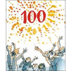 grote verjaardagskaart quentin blake 100 jaar
