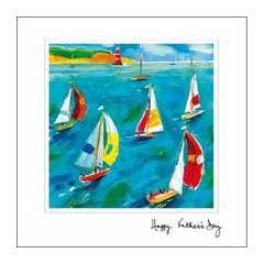 vaderdagkaart woodmansterne - happy father's day - zeilboot, zeilen
