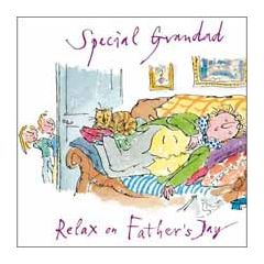 vaderdagkaart quentin blake - special grandad relax on father's day