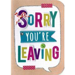 wenskaart - sorry you are leaving