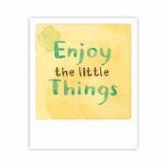 ansichtkaart  pickmotion mini-picks - enjoy the little things