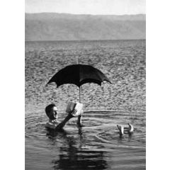 ansichtkaart  zwart-wit 1920 - dag aan zee