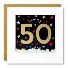 50 jaar - felicitatiekaart shakies - hooray 50