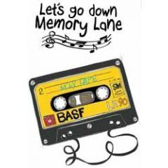 wenskaart mouse & pen - let us go down memory lane - cassettebandje