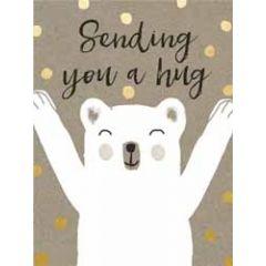 wenskaart  piano small notecards - sending you a hug - beer