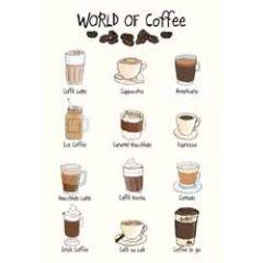 wenskaart mouse & pen - world of coffee (voor de koffie liefhebber)