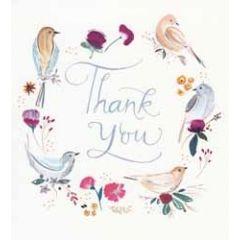 bedankkaart woodmansterne - thank you - vogels
