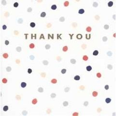 luxe bedankkaart van woodmansterne - thank you - stippen