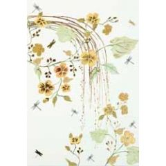 wenskaart - takken met bloemen geel