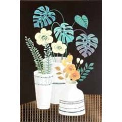 wenskaart - bloemen in vaas