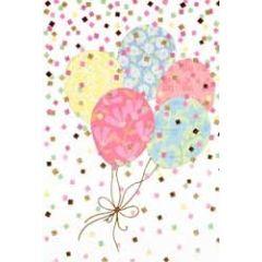 felicitatiekaart - ballonnen en confetti