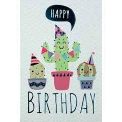 verjaardagskaart - happy birthday - cactussen