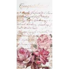 wenskaart - cadeau envelop - congratulations - rozen