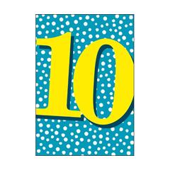 10 jaar - verjaardagskaart woodmansterne - blauw geel