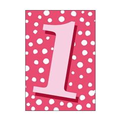 1 jaar - verjaardagskaart woodmansterne - roze