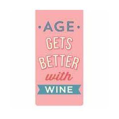 magnetische boekenlegger - age gets better with wine