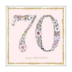 70 jaar - verjaardagskaart woodmansterne - happy birthday