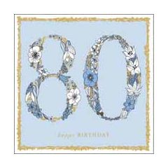 80 jaar - verjaardagskaart woodmansterne - happy birthday