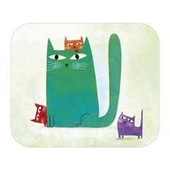 ansichtkaart met envelop - tv kaart - katten