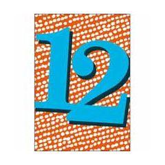 12 jaar - verjaardagskaart woodmansterne - blauw rood