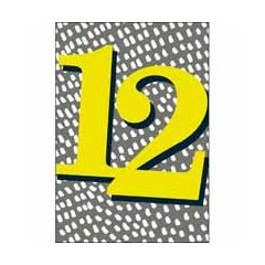 12 jaar - verjaardagskaart woodmansterne - grijs geel