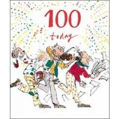grote verjaardagskaart quentin blake 100 jaar - 100 today