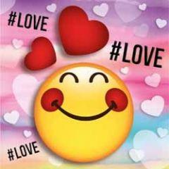 3D  romantische kaart smileys - love