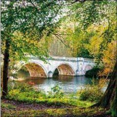 wenskaart  woodmansterne - brug in park