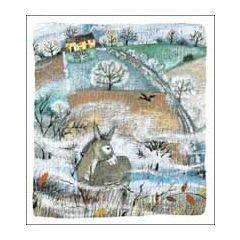 5 kerstkaarten woodmansterne - ezel in landschap