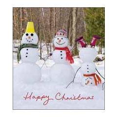 5 kerstkaarten woodmansterne - happy christmas - sneeuwpoppen