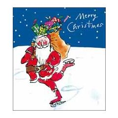 5 kerstkaarten woodmansterne quentin blake - merry christmas - kerstman