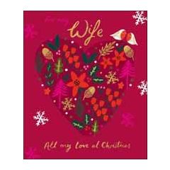 grote kerstkaart woodmansterne - for my wife all my love at christmas