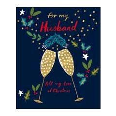 grote kerstkaart woodmansterne - for my husband all my love at christmas