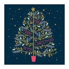 luxe kerstkaart woodmansterne - a very merry christmas to you - kerstboom