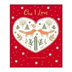 grote kerstkaart woodmansterne - one I love at christmas time