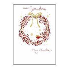 luxe kerstkaart woodmansterne - lovely grandma merry christmas